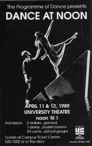 I did five years in modern dance, including several shows like this one!