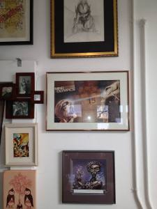My science fiction art wall.